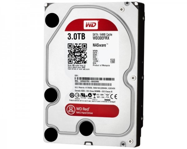 WD 3TB 3.5'' SATA III 64MB IntelliPower WD30EFRX Red