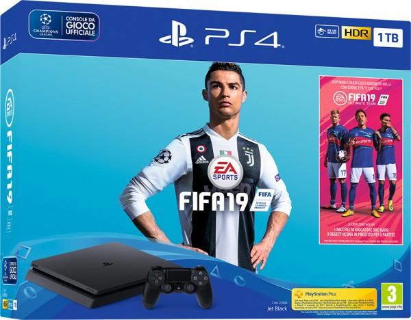 PlayStation PS4 1TB + FIFA 19 (  )