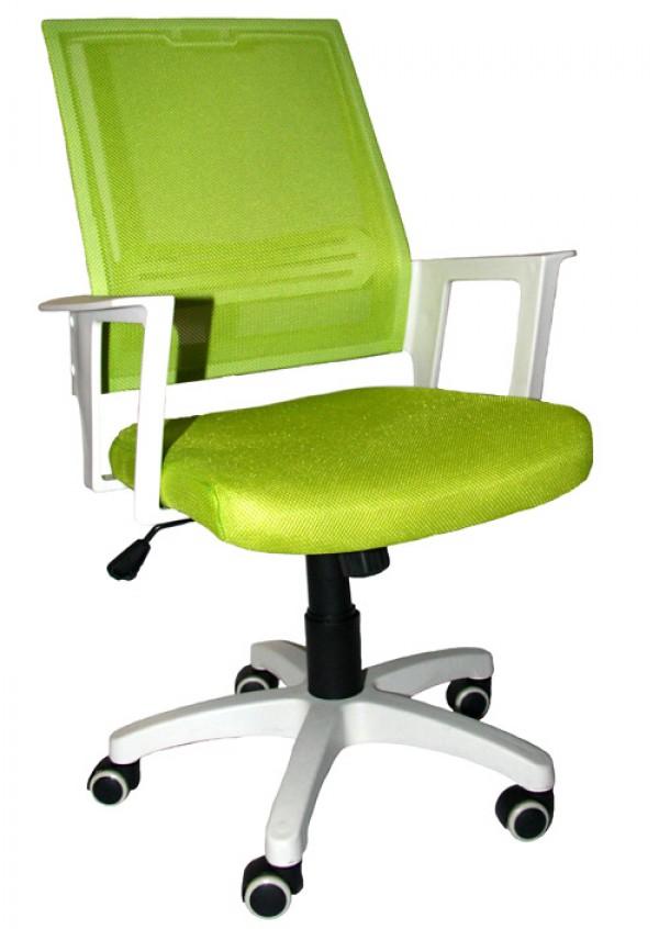 Office Chair DSM04 Green/White (Mesh,PU) ( DSM-04-G )