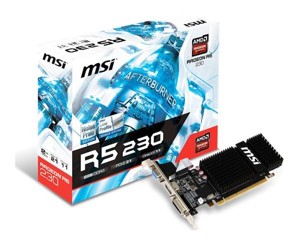 VGA PCIe MSI R5230-2GD3H LP