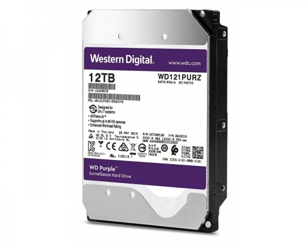 WD 12TB 3.5'' SATA III 256MB 7200rpm WD121PURZ
