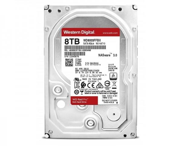 WD 8TB 3.5'' SATA III 256MB 7.200rpm WD8003FFBX Red Pro