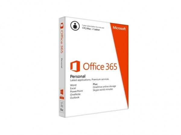 Office 365 Personal EN Sub 1YR CentralEastern Medialess P4' ( 'QQ2-00880' )