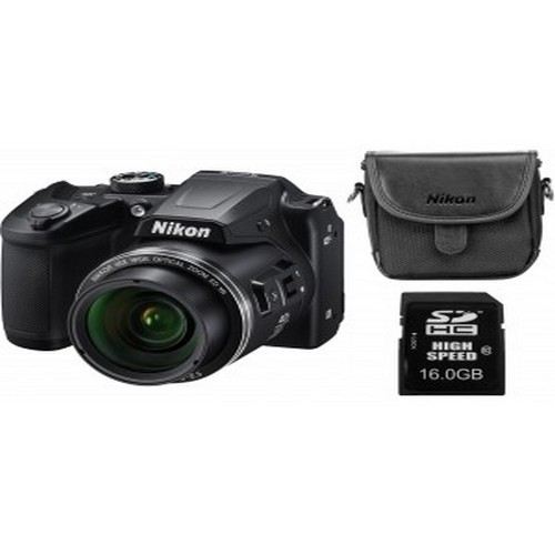 NIKON B500 F.A. CRNI SET (SD 16GB ULTRA 48/mb/s,CS-P08) (RFT)