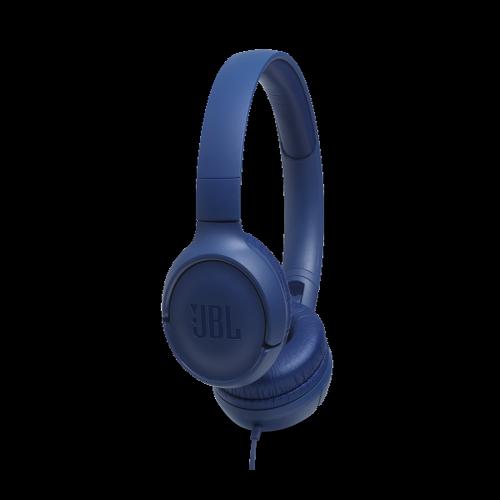 JBL TUNE 500 BLUE ON-EAR SLUSALICE SA UNIVERZALNIM KONTROLAMA I MIKROFONOM