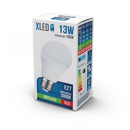 XLED LED SIJALICA E27-13W 220V TOPLO BELA 3000K