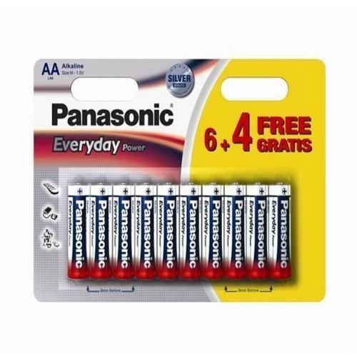PANASONIC baterije LR6EPS/10BW-AA 10 kom 6+4F Alkalne Ever