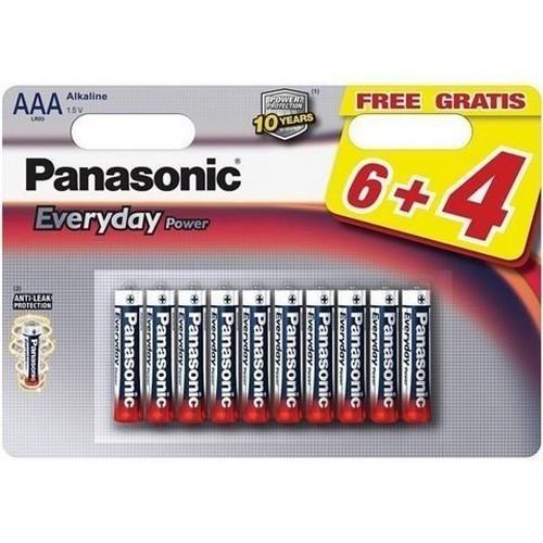 PANASONIC baterije LR03EPS/10BW-AAA 10 kom 6+4F Alkalne Ever
