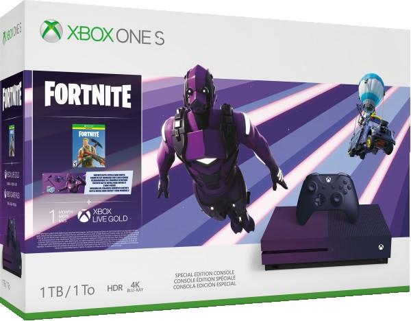 XBOXONE S Console 1TB Gradient Purple + Fortnite + 1 Month XBOX Live Gold