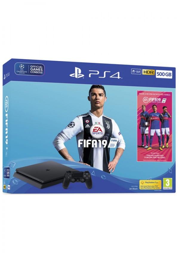 PlayStation PS4 500GB + FIFA 19
