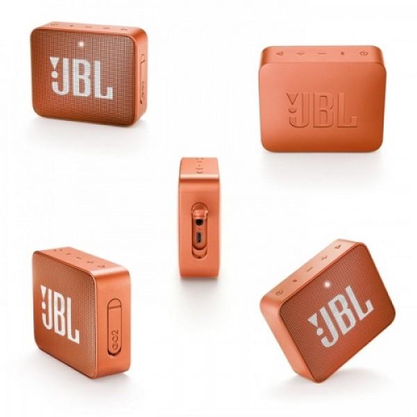 JBL GO 2 ORANGE BLUETOOTH ZVUCNIK IPX7 VODOOTPORAN SA MIKROFONOM