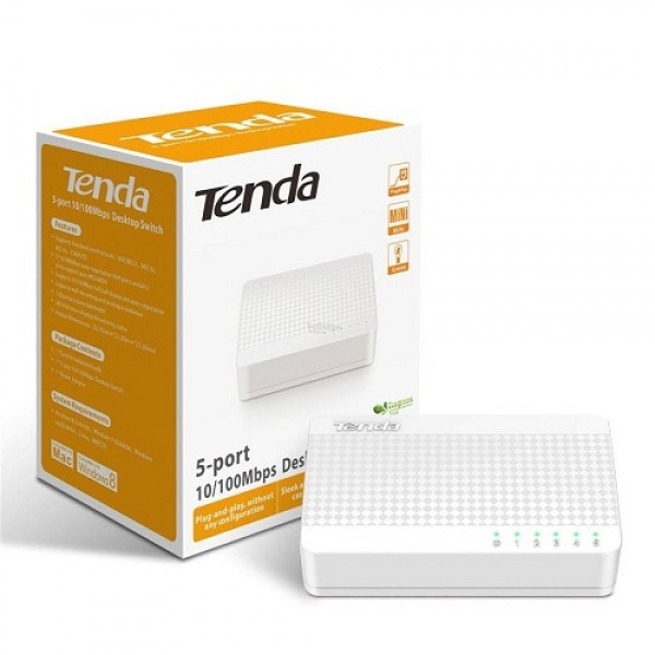 TENDA LAN SWITCH 5PORT 10/100 S105 NEW (GAMA) 061-0068