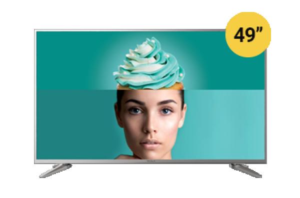 Tesla TV 49T609SUS, 49'' TV LED, slim DLED, DVB-T2CS2, Ultra HD, Linux Smart, grey' ( '49T609SUS' )