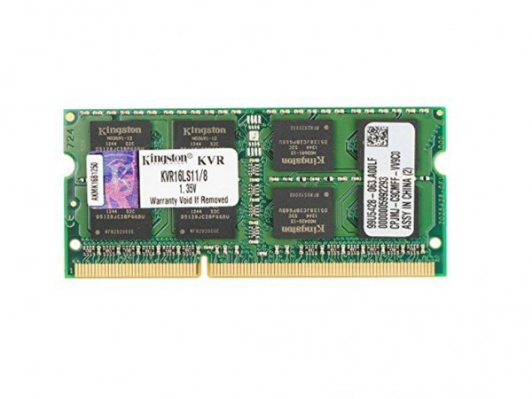 Kingston SODIMM DDR3 8GB 1600MHz KVR16LS118 1.35V' ( 'KVR16LS118' )