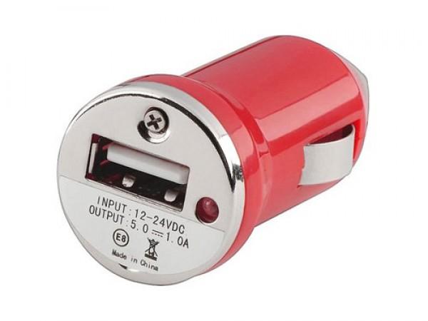 Auto punja USB 1A E-11 crveni (VTP)