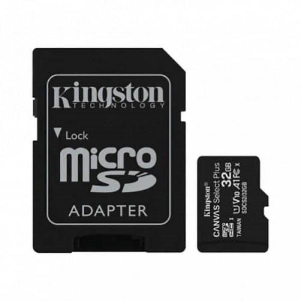 KINGSTON MICRO SD 32GB+SD ADAPTER SDCS2/32GB