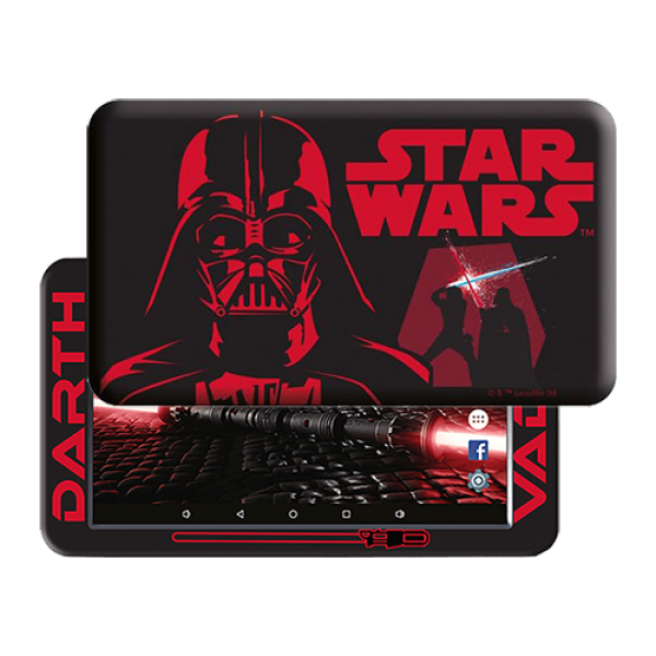 eSTAR Themed Tablet D.VAder 7 ARM A7 QC 1.3GHz/1GB/8GB/0.3MP/WiFi/Android 7.1/Darth Vader Futrola