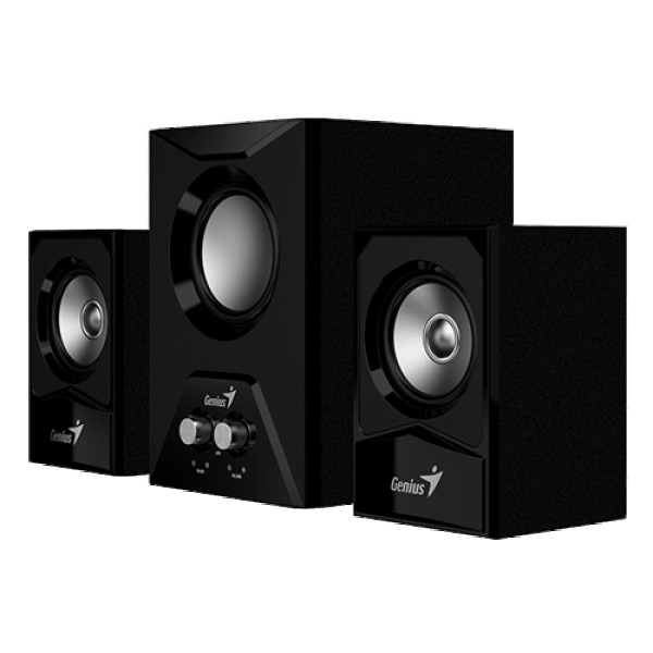 GENIUS SW-2.1 385 2.1, 15W, woofer 8 Ohm; sateliti 4 Ohm, Strujno