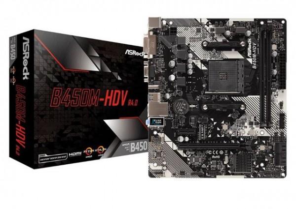 MBO ASRock AM4 B450M-HDV R4.0