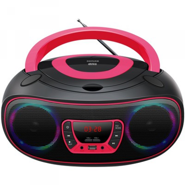 DENVER TCL-212BT PINK CD PLAYER (RFT)
