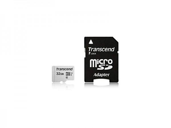 TRANSCEND MICRO SD 32GB TS32GUSD300S-A + SD ADAPTER