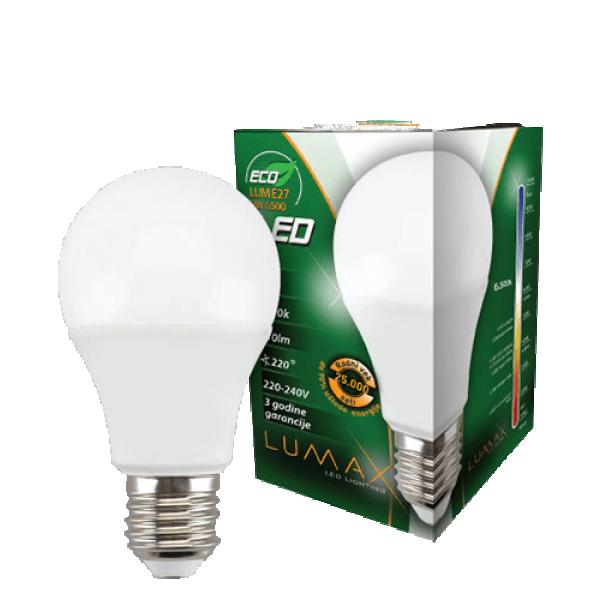 LUMAX LED SIJALICA ECO LUME27-9W 6500K (ODC)