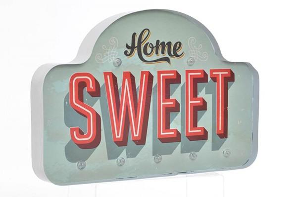 LED DEKORACIJA SWEET HOME BLUE 45X5X30