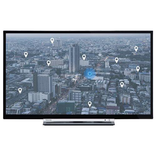 TOSHIBA 32W3753DG LED TV 32'' HD READY, SMART, T2, BLACK, UNI-STAND