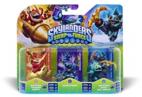 Skylanders SWAP Force Triple Pack C (Star Strike + Gill Grunt + Trigger Happy) ( 84760EU )