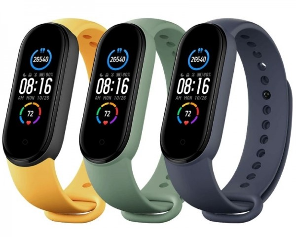 XIAOMI Mi Smart Band 5 Strap (3 pack) Navy BlueYellowMint Green