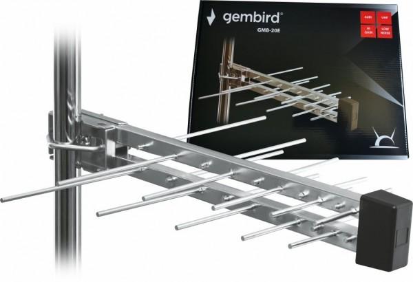 GEMBIRD GMB-20E SA KUTIJOM ANTENA LOGA UHF SA RF-KONEKTOROM 20 ELEMENATA 39CM 6DB ALU 381 (GMB)