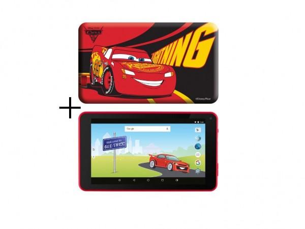 ESTAR THEMED TABLET CARS 3 7'' ARM A7 QC 1.2GHZ/1GB/8GB/0.3MP/WIFI/ANDROID 6/RED/CARS FUTROLA