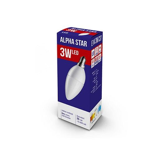 ALPHA STAR LED SIJALICA E14 3W BELA 4000K CANDLE (NT)