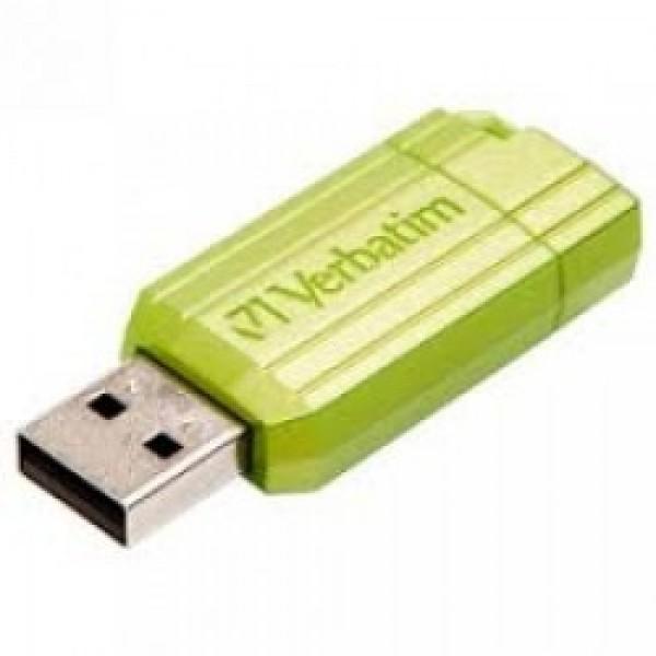 VERBATIM USB FLASH MEMORIJE 16GB PINSTRIPE GREEN 49070
