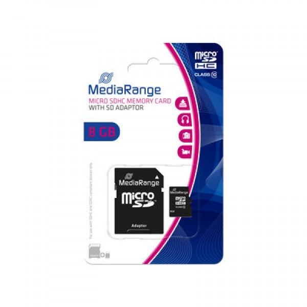 MEDIARANGE GERMANY MEMORIJSKE KARTICE MICRO SDHC/8GB/ CLASS 10/+ADAPTER MR957