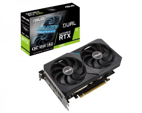 ASUS nVidia GeForce RTX 3060 12GB 192bit DUAL-RTX3060-O12G-V2 LHR