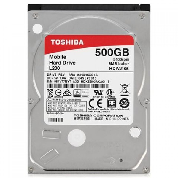 TOSHIBA HDD NOT SATA3 500GB 2.5' HDWJ105UZSVA
