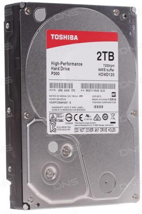 TOSHIBA HDD INT SATA3 2TB 3.5'' HDWD120UZSVA