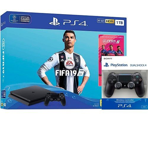 KONZOLA PS4 1TB SLIM+EXTRA DS4+FIFA 19 (ROA)