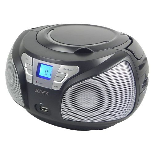 DENVER TCU-206 CRNI, T1 RADIO CD PLAYER (RFT)