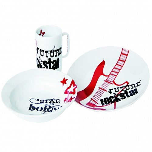 PORCELANSKI SET ZA DORUCAK PARTY KIDS ROCK STAR S&P 0300353