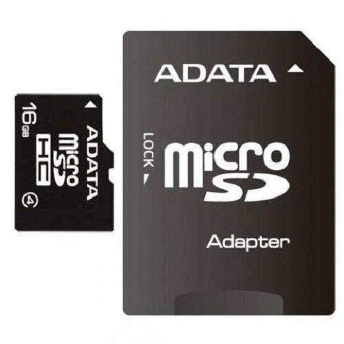 AData MICRO SD 16GB + SD adapter AUSDH16GCL4-RA1