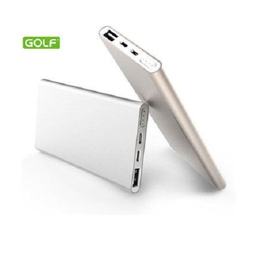 GOLF POWER BANK EDGE 5000MAH SILVER 2XUSB (VTP)