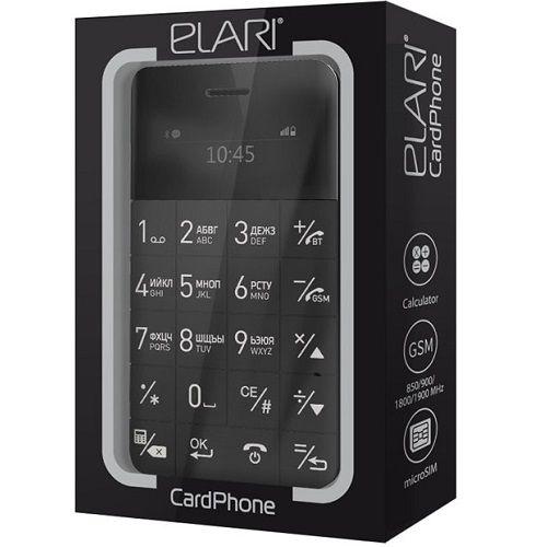 ELARI CARDPHONE MOBILNI TELEFON CRNI (RPM)