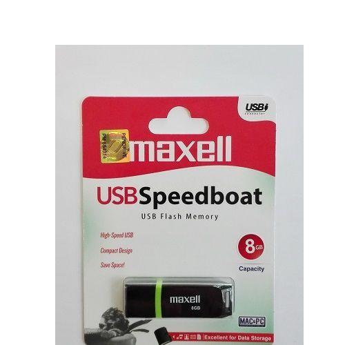 MAXELL USB SPEEDBOAT 2.0 BLACK 8GB (DUDI)
