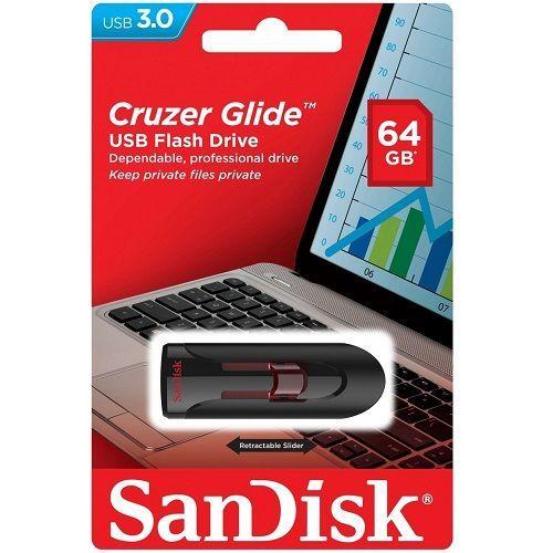 SANDISK CRUZER GLIDE 64GB (RFT)