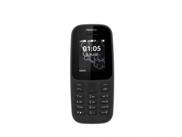 NOKIA 105 DS BLACK NEW DUAL SIM
