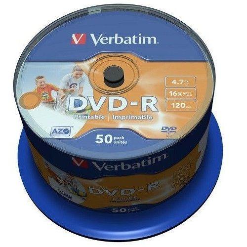 VERBATIM DVD-R AZO WIDEPRINT SURFACE 4.7GB 16X 43533 NO-ID  (VVRT)