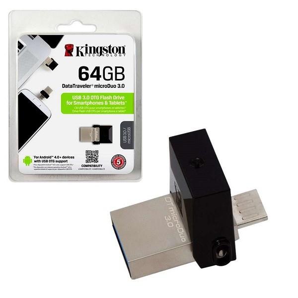 Kingston 64GB DT MicroDuo USB 3.0 DTDUO64GB metal-black' ( 'DTDUO364GB' )