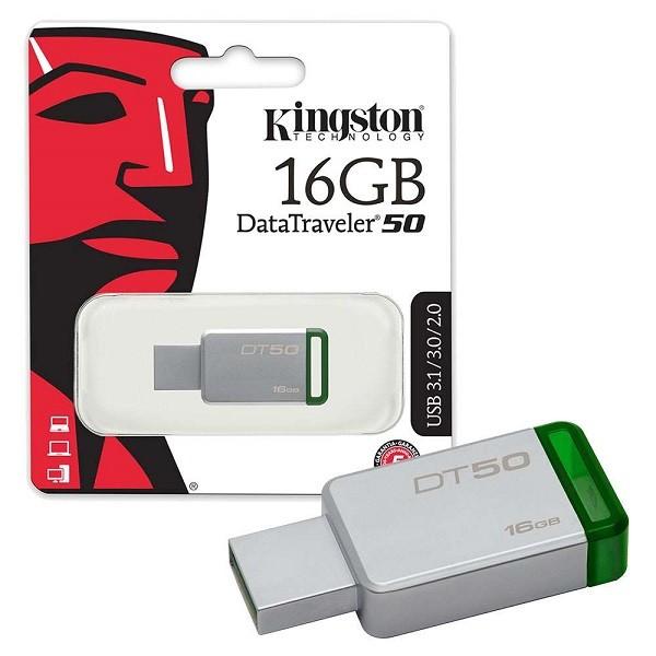 Kingston 16GB DT USB 3.0 DT5016GB metal - zeleni' ( 'DT5016GB' )